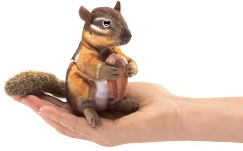 Folkmanis Mini Chipmunk with acorn