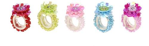 Souza Ring Jessy, fuchsia+roze+aqua+rood+groen