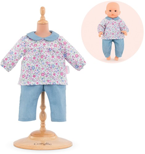 "Mon Premier Poupon BB 12"""" BLOUSE FLOWER & PANTS"
