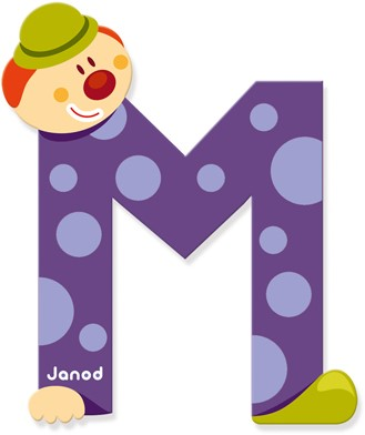 Janod Clown Letter -  M