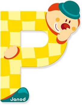 Janod Clown Letter -  P
