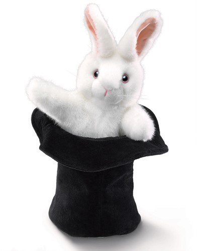 Folkmanis Large Rabbit in Hat