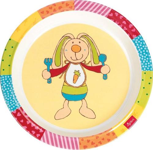 sigikid Melamine bord, Rainbow Rabbit