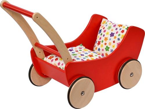 nic houten speelgoed Puppenwagen