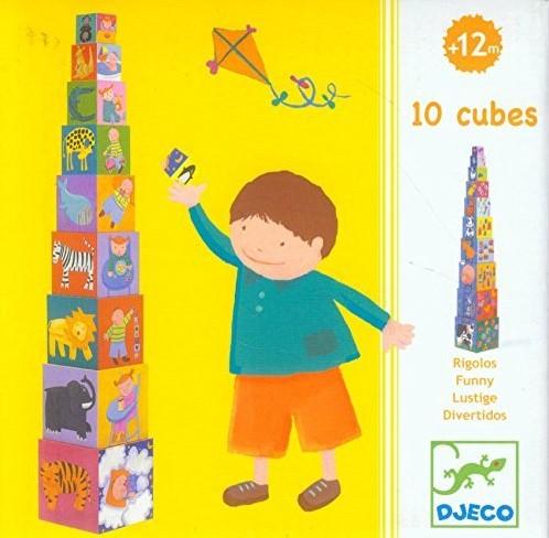Djeco 10 cubes Rigolos
