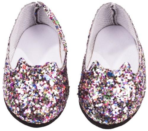"Götz Shoes & Co, ballerinas """"Glitzerkatze"""", babypoppen 42-46 cm / staanpoppen 45-50 cm"