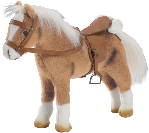 """Götz Boutique, paard met zadel en teugel, """"""""Haflinger Fritz"""""""", lichtbruin, 27 cm"""