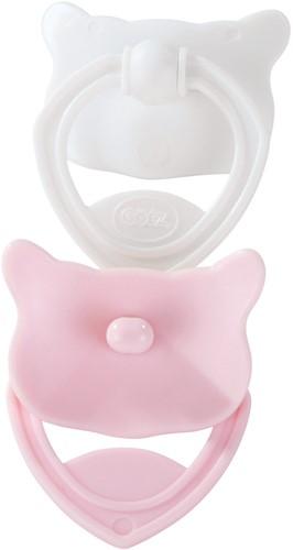 "Götz Fopspeen """"Pink & white"""", babypoppen 30-33 cm / 42-46 cm / 48 cm (Inhoud: 2 stuks)"