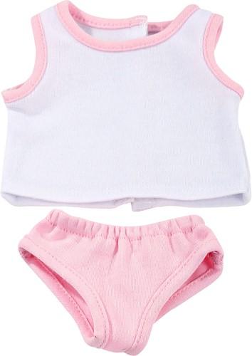 """Götz Basic Boutique, ondergoed """"""""Classic pink"""""""", babypoppen 30-33 cm / staanpoppen 45-50 cm (Inhoud: 2-delig)"""
