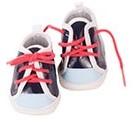 "Götz Shoes & Co, sneakers """"Black"""", babypoppen 42-46 cm / staanpoppen 45-50 cm"
