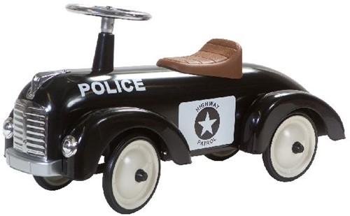 Retro Roller loopauto Speedster zwart Bobby