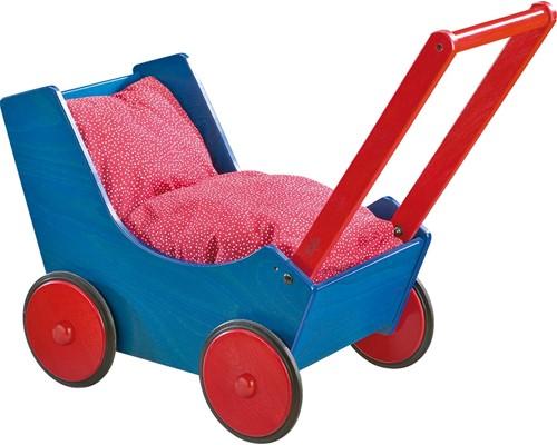 HABA Poppenwagen Blauw/Rood