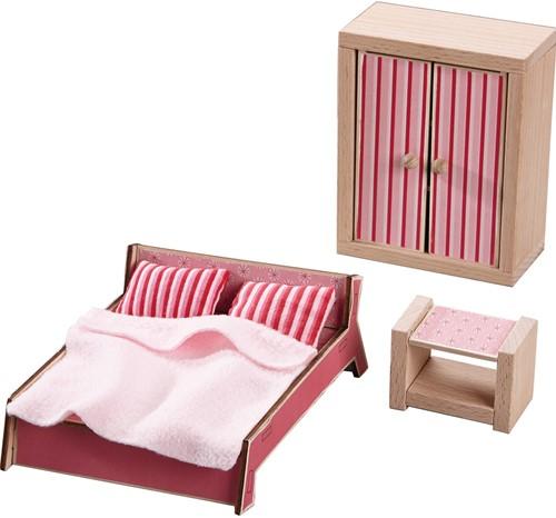 HABA Little Friends - Poppenhuismeubels Slaapkamer voor volwassenen