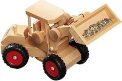 Fagus houten speelvoertuig Tractor bestuurbaar 24cm bij