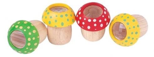 Plan Toys houten caleidoscoop paddestoel