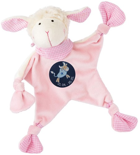 sigikid Zodiac knuffeldoekje Taurus roze 48817