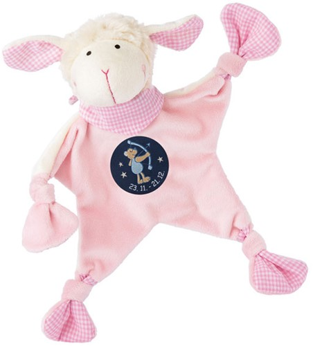 sigikid Zodiac knuffeldoekje Sagittarius roze 48824