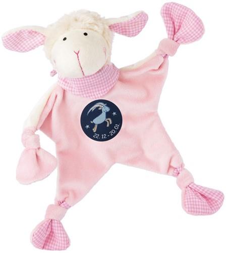 sigikid Zodiac knuffeldoekje Capricorn roze 48825