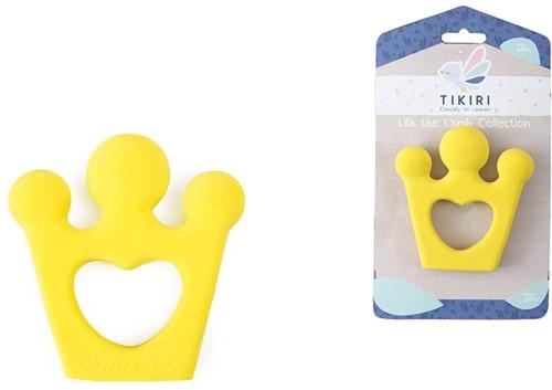 Tikiri: BIJTRING Kroon 10cm, in natuurlijk rubber, op kaart, 0+