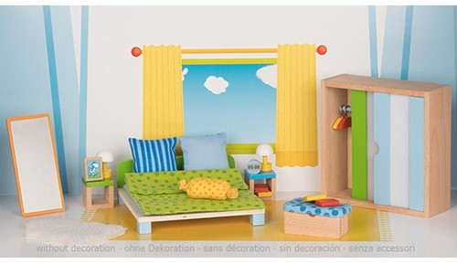 Goki Furniture for flexible puppets, bedroom 2