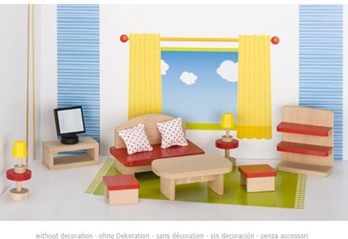 Goki Furniture for flexible puppets, living room, goki basic.