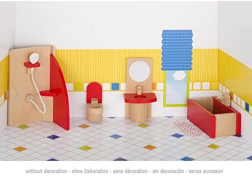 Goki Furniture for flexible puppets, bathroom, goki basic.