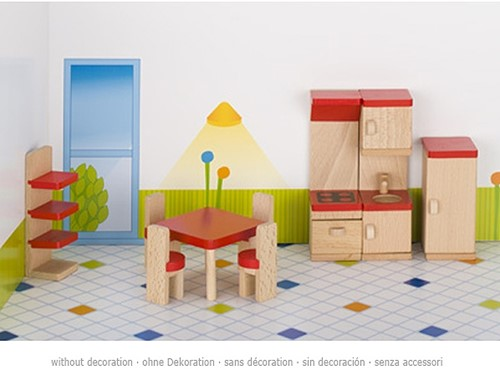 Goki Furniture for flexible puppets, kitchen, goki basic.