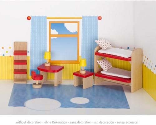Goki Furniture for flexible puppets, children's room, goki basic.