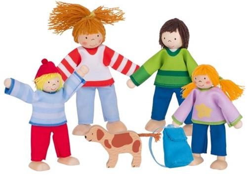 Goki Flexible puppets camping familiy