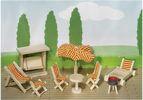 Goki Dolls' house, garden furniture