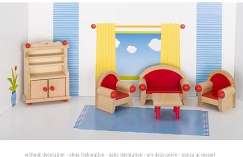 Goki Furniture for flexible puppets, living room 1