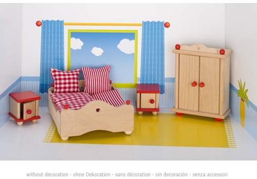 Goki Furniture for flexible puppets, bedroom 3