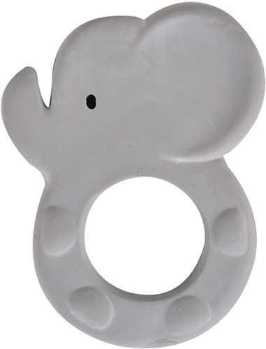 Tikiri: BIJTRING - MIJN EERSTE SAFARIDIERTJE / OLIFANT 8x10.5cm, in natuurlijk rubber, op blisterkaart, 0+
