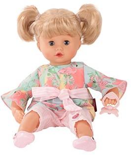 "Götz Muffin, """"Flamingo love"""", blond haar, slaapogen, 33 cm"