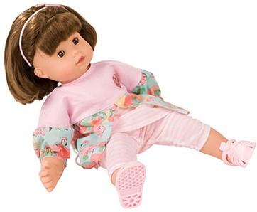 "Götz Maxy-Muffin, """"Flamingo love"""", bruin haar, slaapogen, 42 cm"