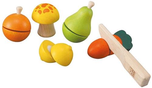 Plan Toys houten keuken accessoires Fruit en Groente set