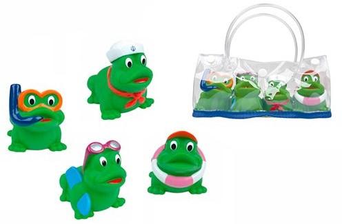 Planet Happy  badspeelgoed Kikkervrienden met opbergtasje