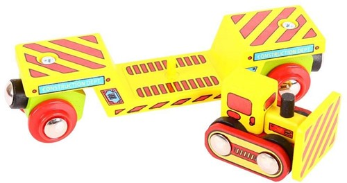 Bigjigs Bulldozer Low Loader (4)