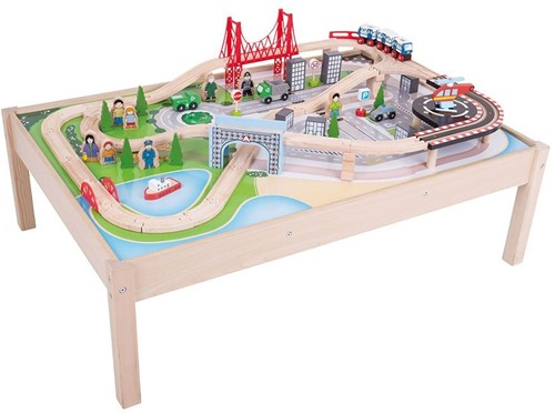 Bigjigs City Train Set and Table