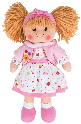 Bigjigs Kelly - Blonde Hair/Pink Strawberry Dress