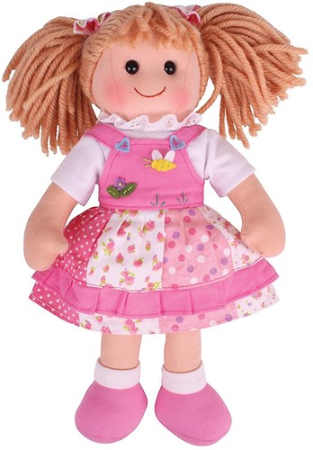 Bigjigs Hayley - Pink Spotty Dress/Blonde Hair