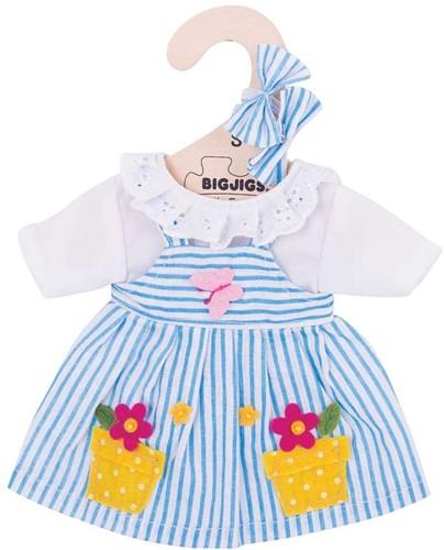 Bigjigs Blue Striped Dress - Small