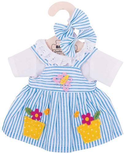 Bigjigs Blue Striped Dress - Medium