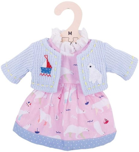 Bigjigs Polar Bear Pink Dress - Medium
