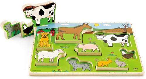 Hape Farm Animals Stand Up Puzzle