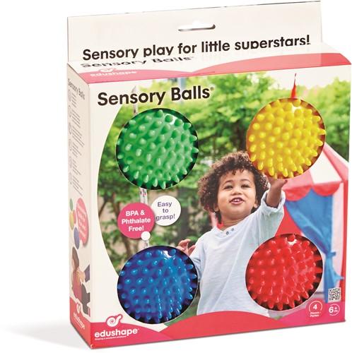 Edushape Kleine Sensorische Ballen (10cm) - Set van 4