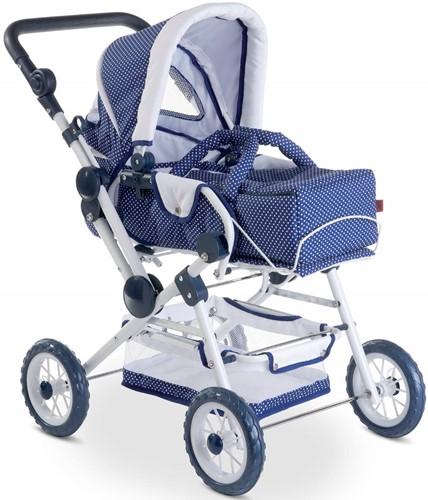 Götz accessoire Puppenwagen 4Rad spotty blue