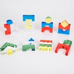 TickiT Colour Acrylic Block Set