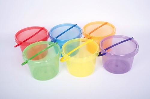 TickiT Translucent Colour Buckets Set