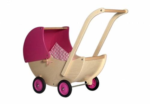 Van Dijk Toys Poppenwagen roze